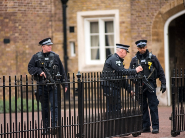 Police officers patrolling on the streets of London, UK, photo by salajean/Getty Images