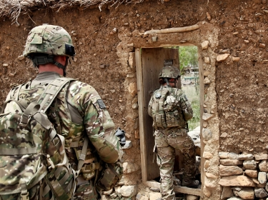 U.S. Army soldiers search buildings and homes during a mission in Khost province, Afghanistan, July 17, 2011, photo by Sgt. Joseph Watson/U.S. Army