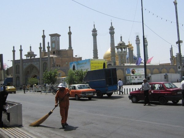 A street in Qom, Iran