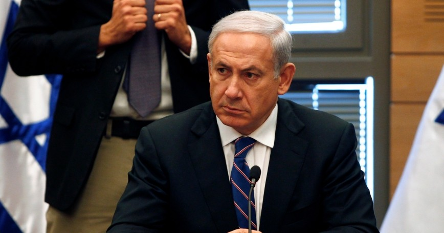 Israel's Prime Minister Benjamin Netanyahu attends a Likud party meeting at the Knesset, the Israeli parliament, in Jerusalem, February 13, 2012
