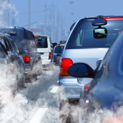 Vehicle emissions in a traffic jam