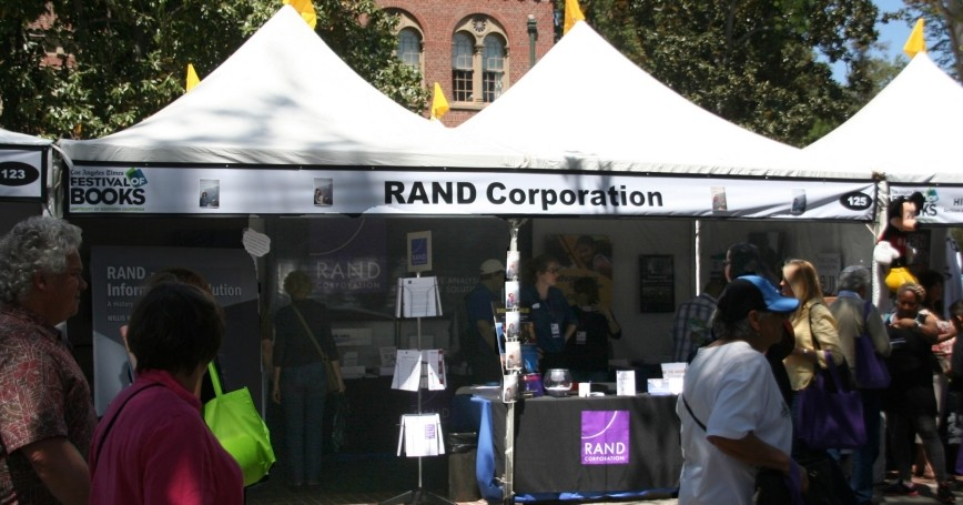 RAND's booth at an LA Times Festival of Books