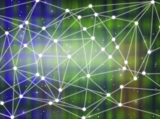 Distributed communication network illustration