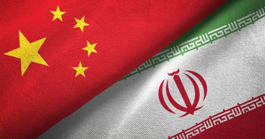Fabric flags of China and Iran