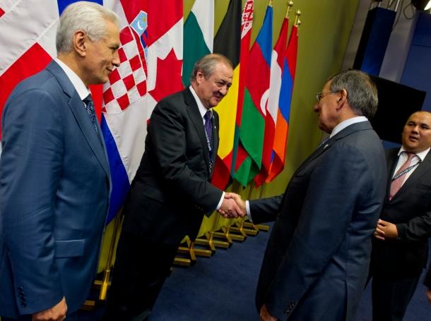 Secretary of Defense Leon E. Panetta attends the NATO Summit in Chicago, May 21, 2012