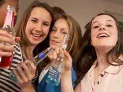 teen girls drinking