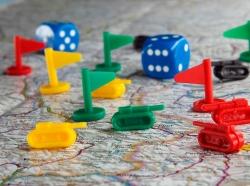 A wargames board game