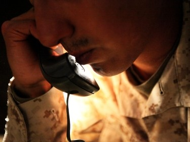 Marine calling a counseling hotline