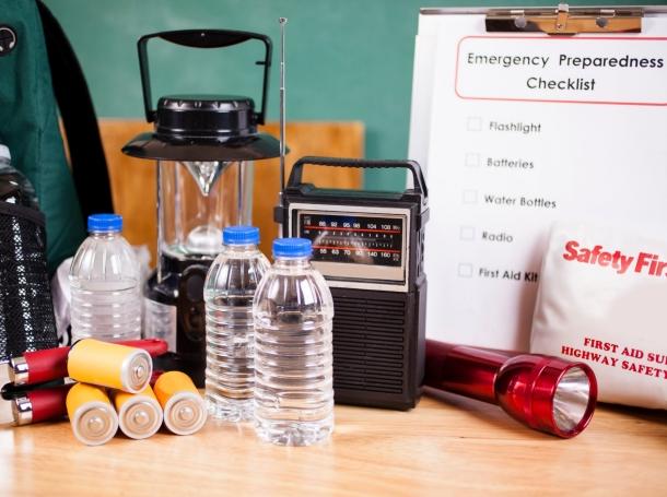 Emergency preparedness checklist and supplies