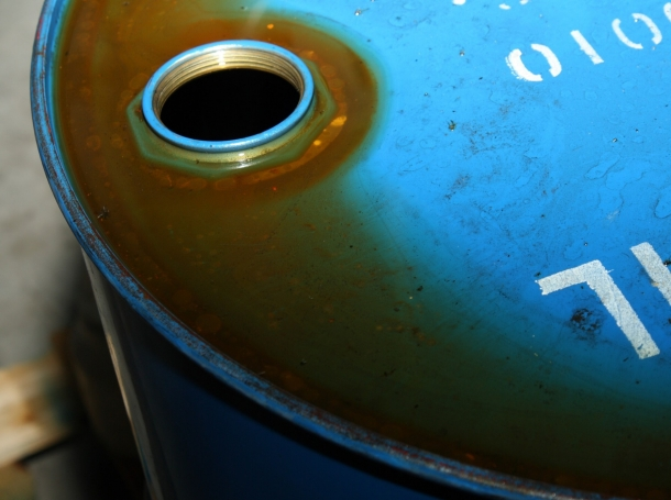 An oil barrel