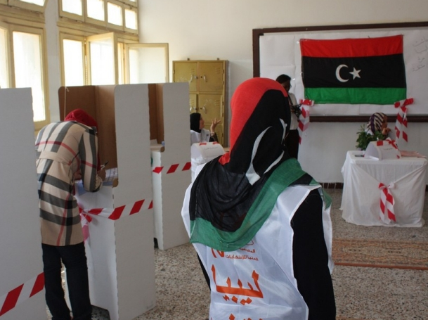 Women voting at the 2012 Libyan elections