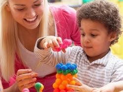 Preschool children and teacher