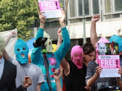 Free Pussy Riot demonstration in Berlin