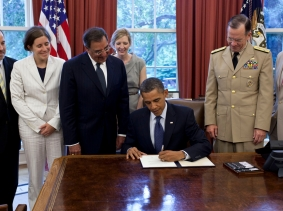 "President Obama signs the certification stating the statutory requirements for repeal of ""Don't Ask, Don't Tell"" have been met"