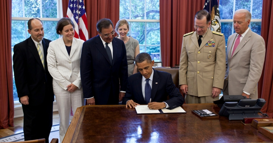"""President Obama signs the certification stating the statutory requirements for repeal of """"Don't Ask, Don't Tell"""" have been met"""
