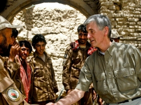 Secretary of the Army John McHugh meets with Afghan Local Police