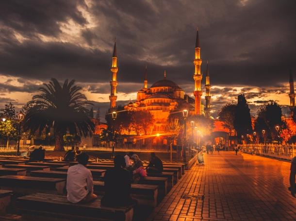 The Sultan Ahmet Camii Mosque in Istanbul