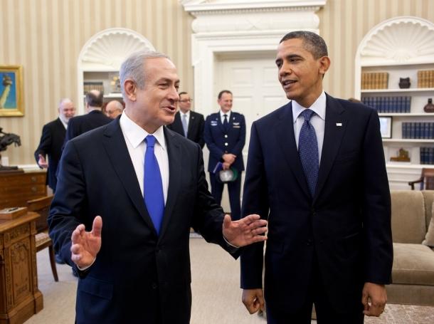 Prime Minister Benjamin Netanyahu of Israel and U.S. President Barack Obama