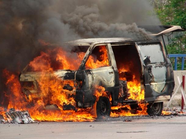 a car exploding