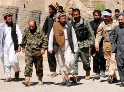 Taliban insurgents turning themselves in to Afghan National Security Forces