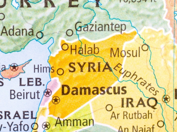 map of Syria and its neighbors