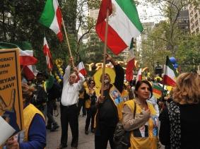 Iranian protest-rally against Ahmadinejad September 26, 2012 in NYC