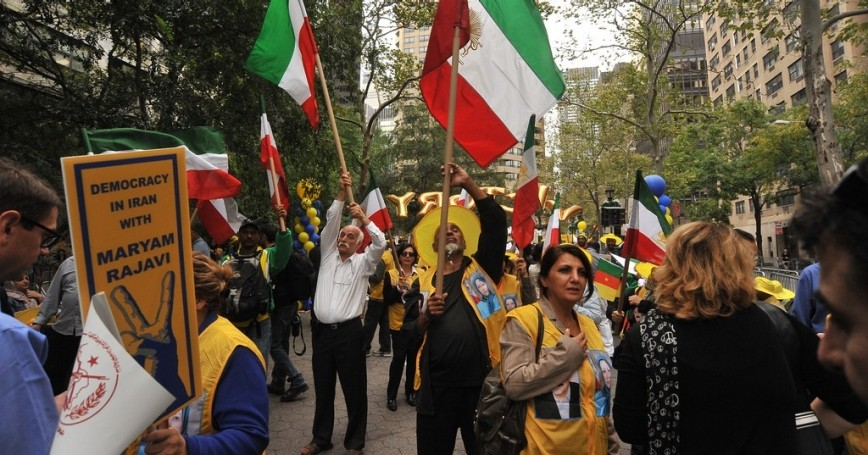 Iranian protest-rally against Ahmadinejad September 26, 2012 in NYC