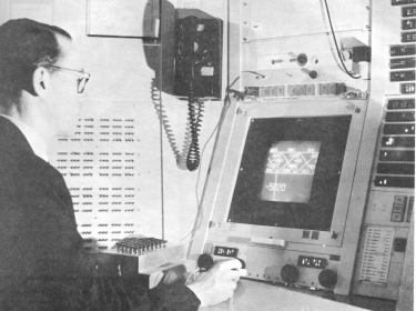 Ivan Sutherland operating the Sketchpad system he developed