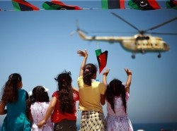 Libyans in Zawiya celebrating one-year anniversary of anti-Qadhafi uprising