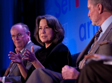 Sheila C. Bair during the 'Assessing Risk: Where Will it Come From' panel discussion Friday, Nov. 16, 2012 at the RAND Politics Aside Event in Santa Monica, Calif.