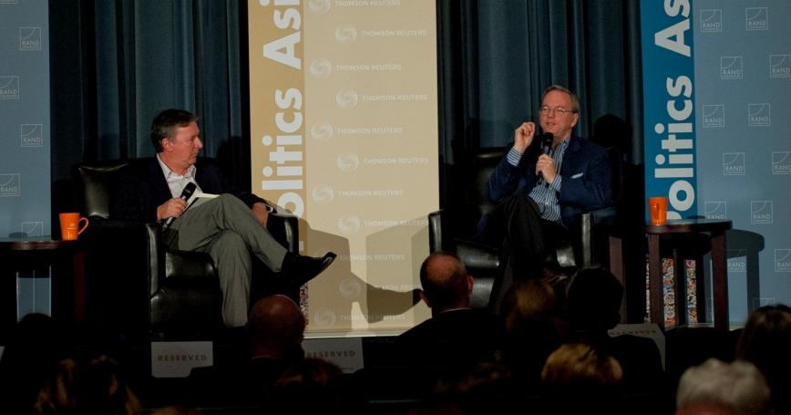 Eric Schmidt at RAND's Politics Aside event