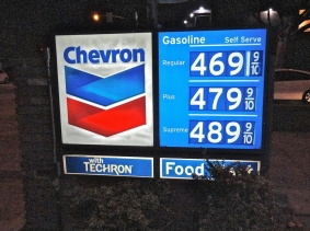 Gas prices - 10/18/12 - Santa Monica, CA