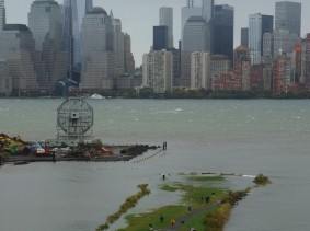 The Morris Canal in New York City, with portions flooded by Sandy's storm surge.