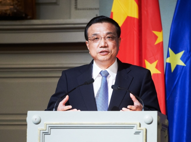 Chinese Vice Premier Li Keqiang speaks on urbanisation at a May 2012 conference co-organised by Friends of Europe