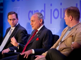 Seth Jones, Prince Turki Al Faisal, and David Kilcullen at RAND's Politics Aside event