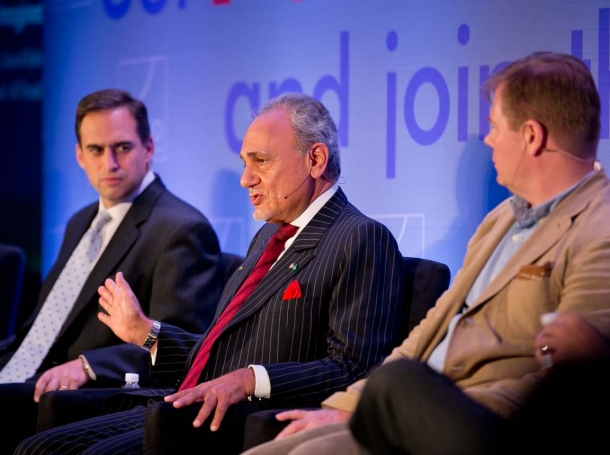 Seth Jones, Prince Turki Al Faisal, and David Kilcullen at RAND's Politics Aside event