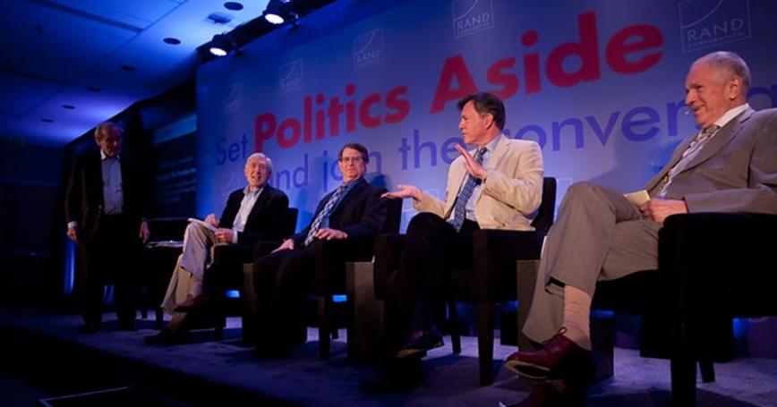 Edmund Phelps at RAND's Politics Aside event