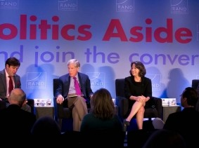 Sheila Bair and Kenneth Feinberg at RAND's Politics Aside event