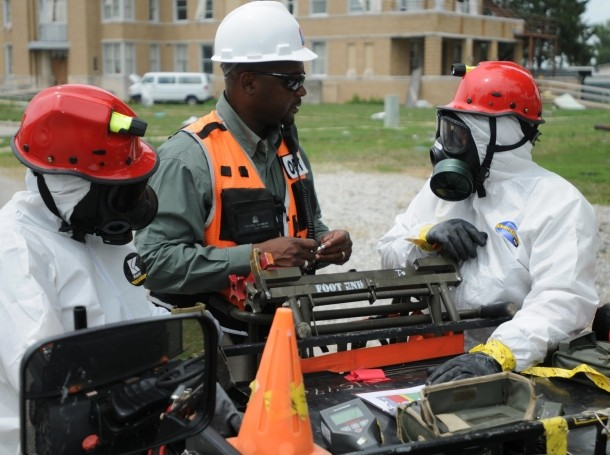 Civil Support Teams conduct assessments as part of Vibrant Response 13, a major incident exercise conducted by U.S. Northern Command and led by U.S. Army North