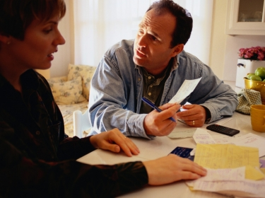 couple discussing their finances