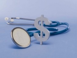 dollar sign and a stethoscope