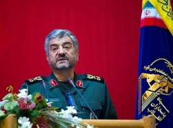 Iran's Revolutionary guards commander Mohammad Ali Jafari speaks during a conference to mark the martyrs of terrorism in Tehran, September 6, 2011