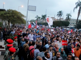 On Dec. 4, 2012, Egyptians marched to the federal palace to reject the constitution referendum