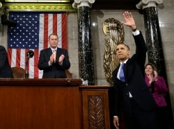 President Barack Obama's State of the Union address on Capitol Hill in Washington, February 12, 2013
