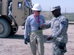 Civilian contractor at Ghulzani Warrior Training Center