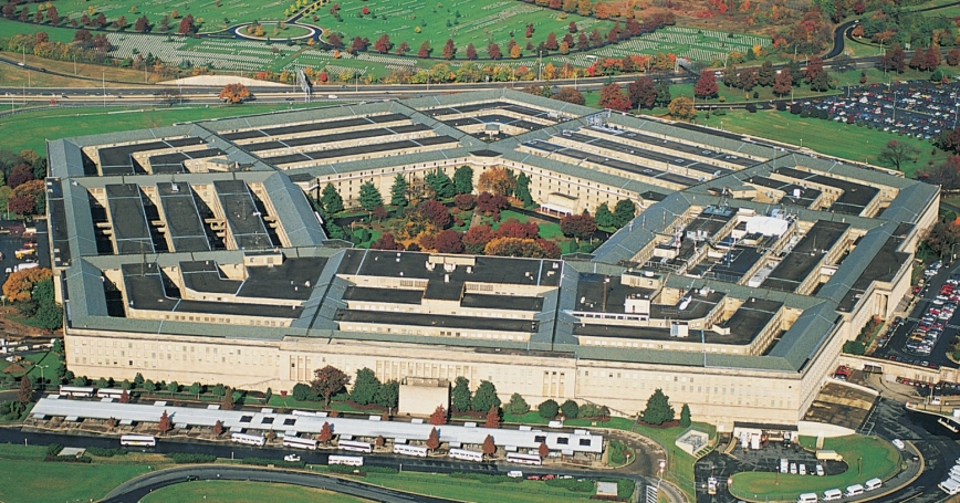 The Pentagon, as seen from an aerial view.