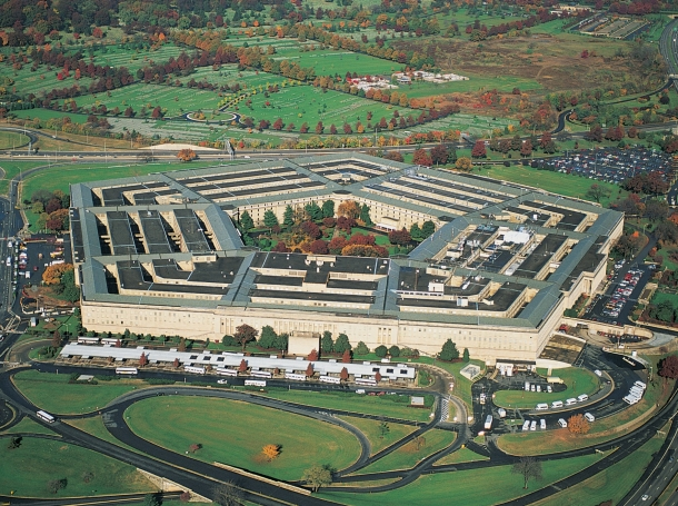 The Pentagon, as seen from an aerial view