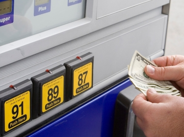 paying for gas at pump