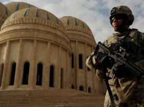Combat Camera,Makinano,OIF,Patrol,3/3ACR,Al Zarai,Saddam Mosque