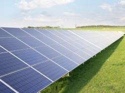 An array of solar panels